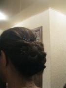 9 день, причёска с цветком