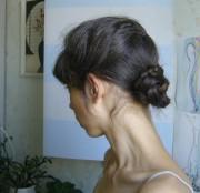 21 день коса четверная с висячими прядями