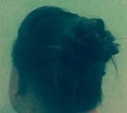 Высокая причёска с пучком