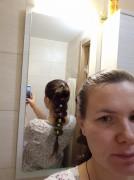 День шестой. Коса с резиночками.