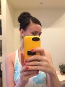Причёска с бубликом:))